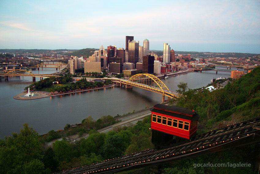 Downtown Pittsburgh from the Incline