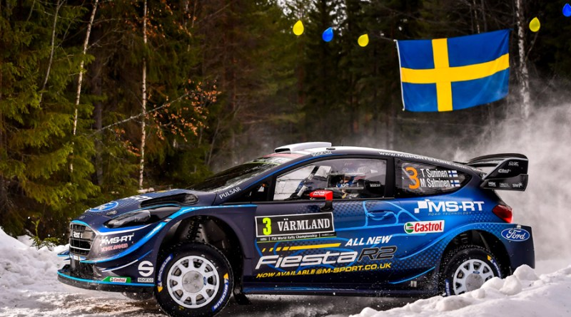 [WRC] 스웨덴 랠리, M-스포트 포드 T. 수니넨 둘째날 종합 1위 등극
