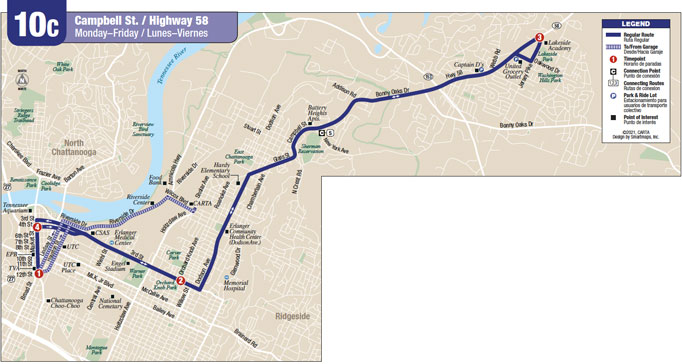 Route 10C map