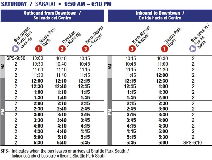 Route 2 timetable