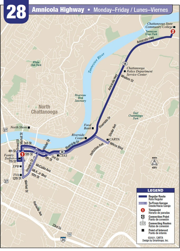 Route 28 map