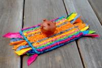 Craft Kit: 3-Legged Piggy on Locker Hooked Magic Carpet ...