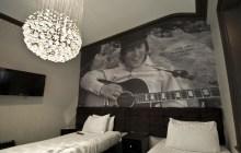 Custom hotel wallpaper