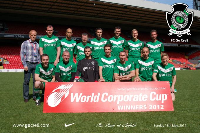 go cre8 FC world corporate cup champions 2012