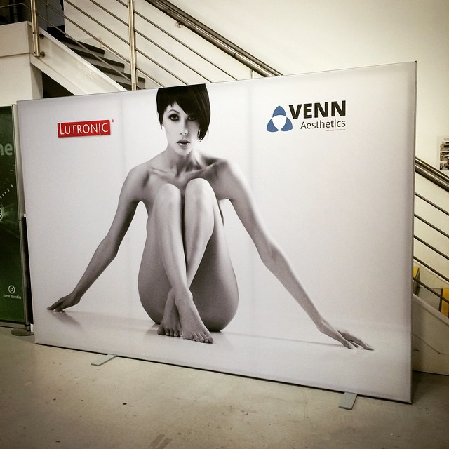 Textile display stand ready to be shipped to Excel for Professional Beauty London show
