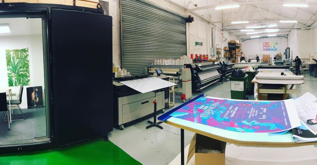 Where the Magic Happens 🎩 #printing #creative #design #exhibitions #signage #liverpool #art #work #workshop #creating #printing #posters #graphicdesign