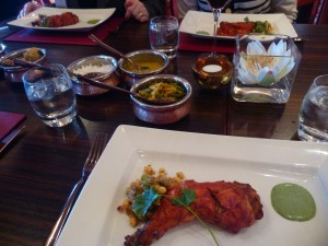 Tandoori chicken with Cocanut moilley sauce