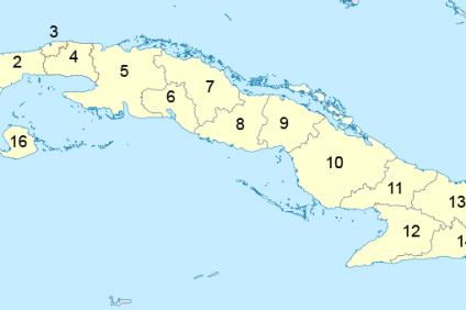 Podział administracyjny Kuby