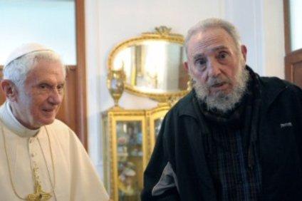 Papież Benedykt spotkał się z Fidelem
