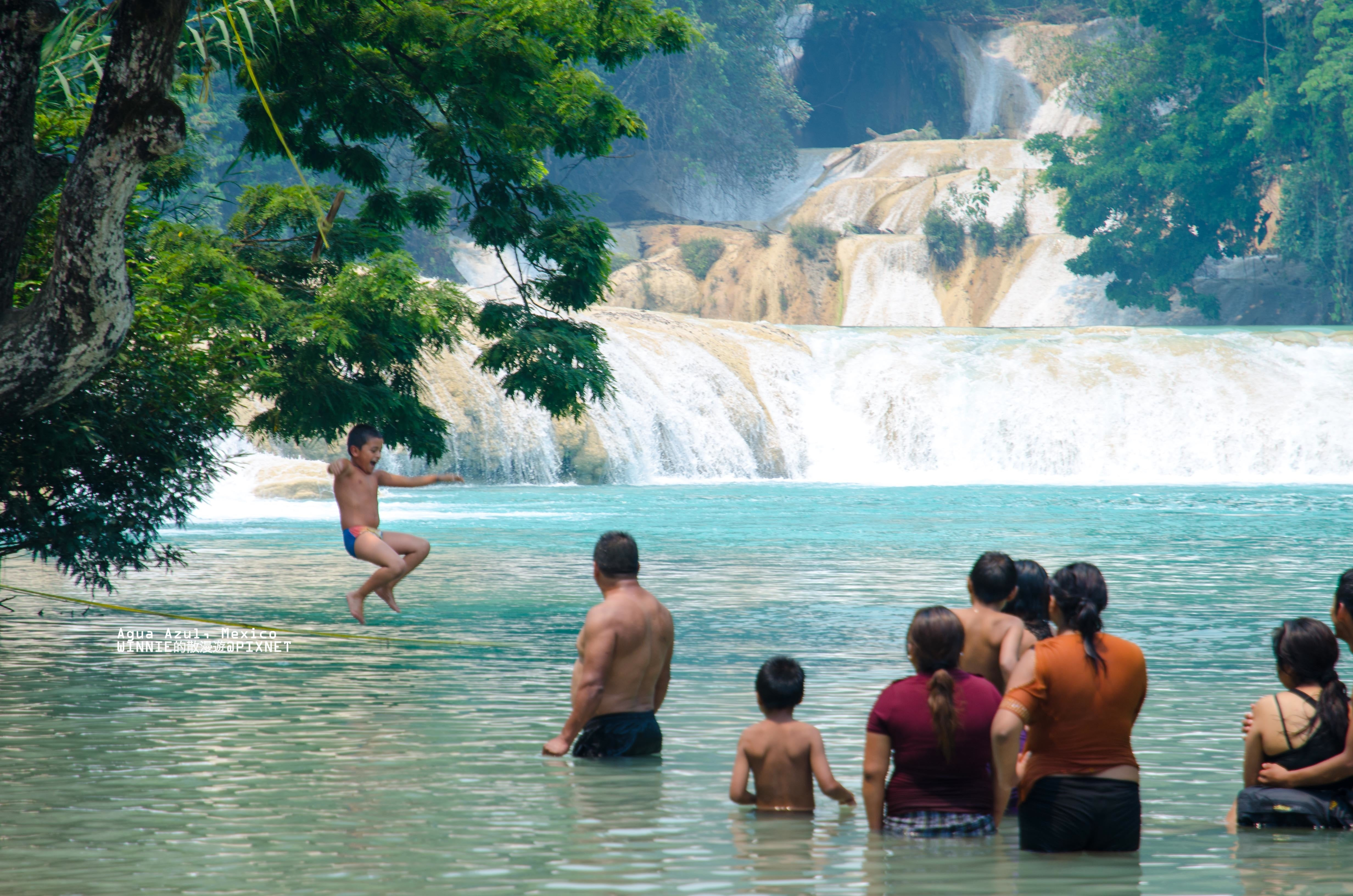 Swimming At Agua Azul And Misol Ha Go Curry Cracker
