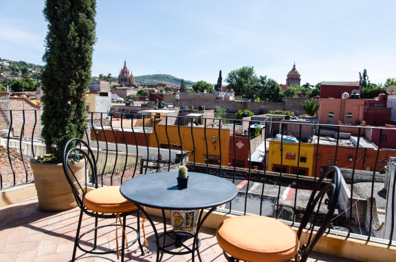 Rooftop Terrace, with the Parroquia in the Distance
