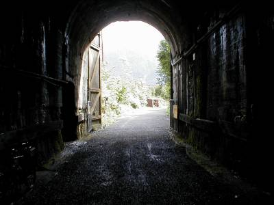 Tunnel on the Iron Horse Trail outside Seattle