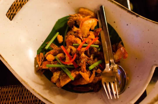 Shrimp with Salted Egg Yolk