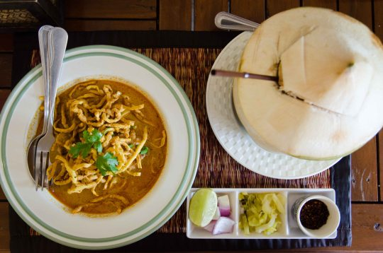 Khao Soi with Fresh Coconut