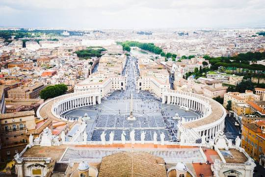 Saint Peter's Square as seen from the top of the Basilica, Vatican