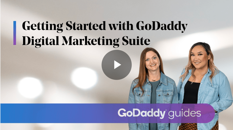 Cover image for the new Getting Started with GoDaddy Digital Marketing Suite How-To video course.