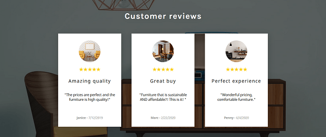 Customer Review Section On Website