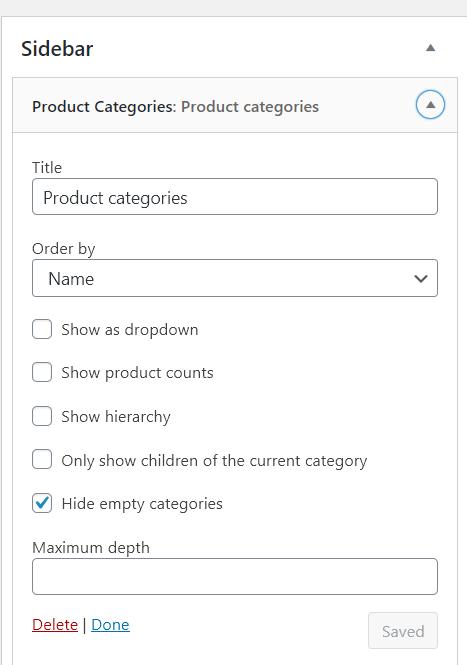 WooCommerce Product Visibility Sidebar