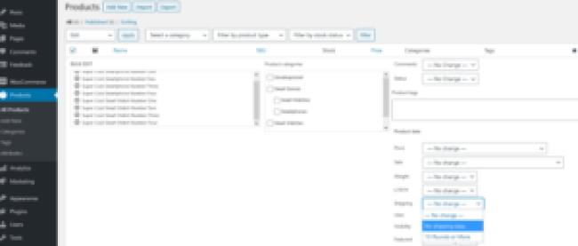 WooCommerce standard shipping setup dimensions