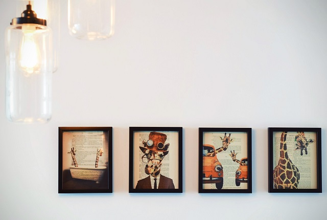 Gallery wall on a white background