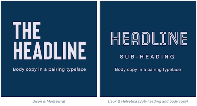Example of bold font pairings