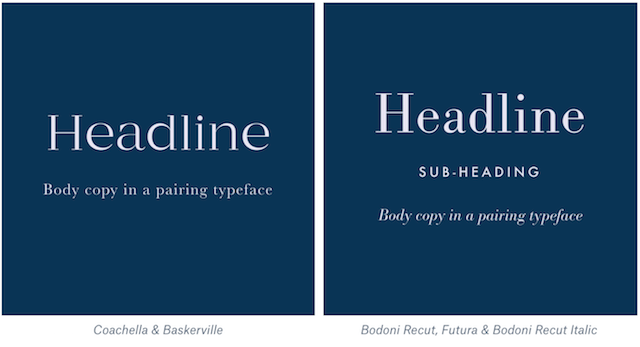 Classic font pairings example