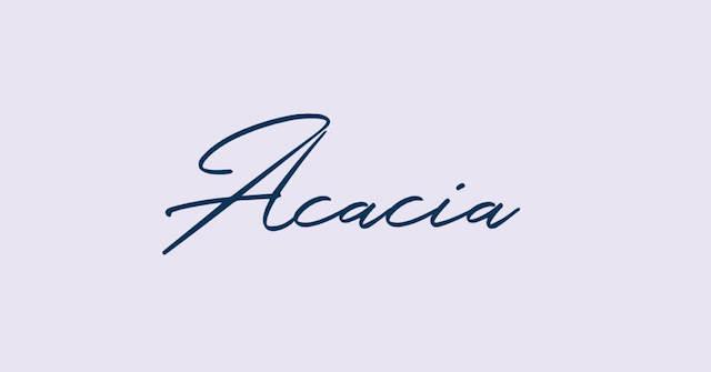 Cursive Acacia