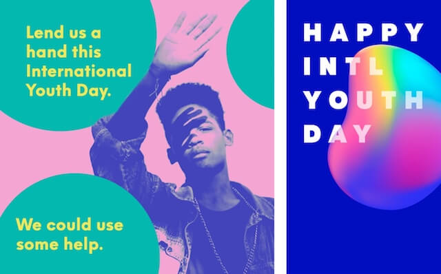 GoDaddy Studio template for international youth day