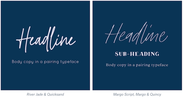 Organic font pairings example