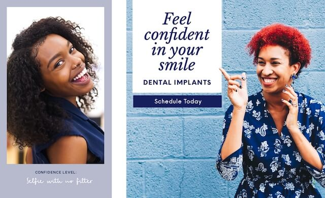 Social ads celebrating national smile day