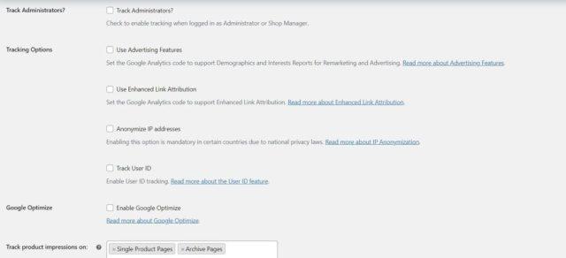 Google Analytics WooCommerce Configuration