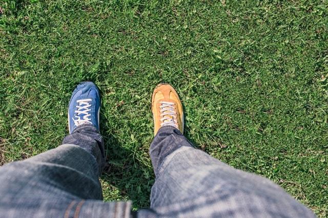 Domain Vs Website Different Color Shoes