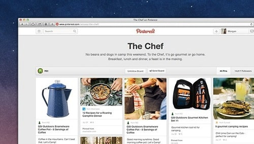 Pinterest For Business Boards Example