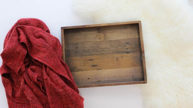Blanket And Wood Box As Possible Photo Backdrop
