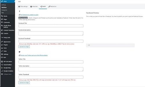 Promote Blog SEOPress Social Example