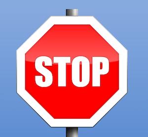 Stop Sign Represent Bad Backlink Tactics]