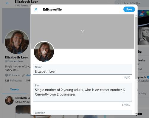 Twitter Bio Edit Profile