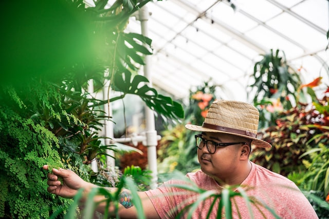Urban Plant Shop Owner John Melicor in Greenhouse