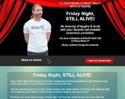Virtual Performance Announcement JP Sears
