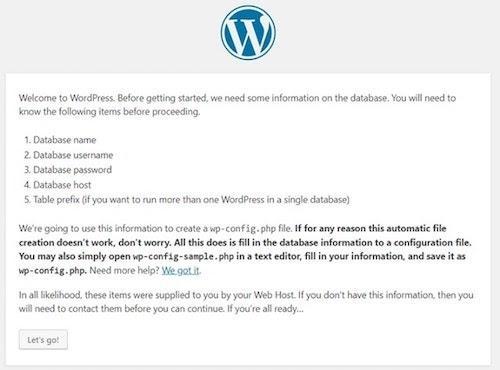WordPress Cpanel Details