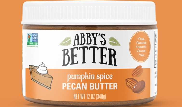 50 Dairy-Free Pumpkin Spice Sweets, Snacks, and More! Pictured: Abby's Better Pecan Butter