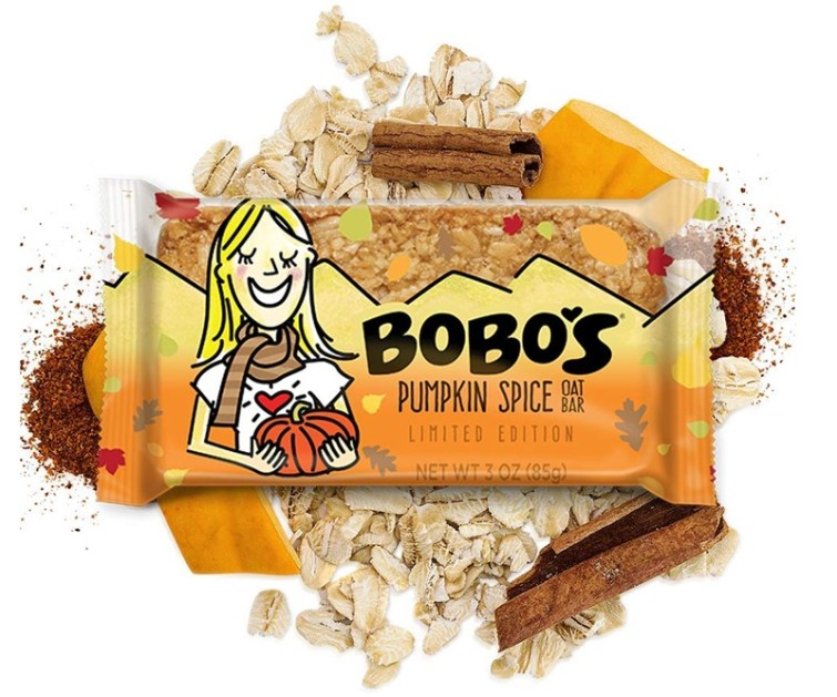50 Dairy-Free Pumpkin Spice Sweets, Snacks, and More! Pictured: Bobo's Oat Bars