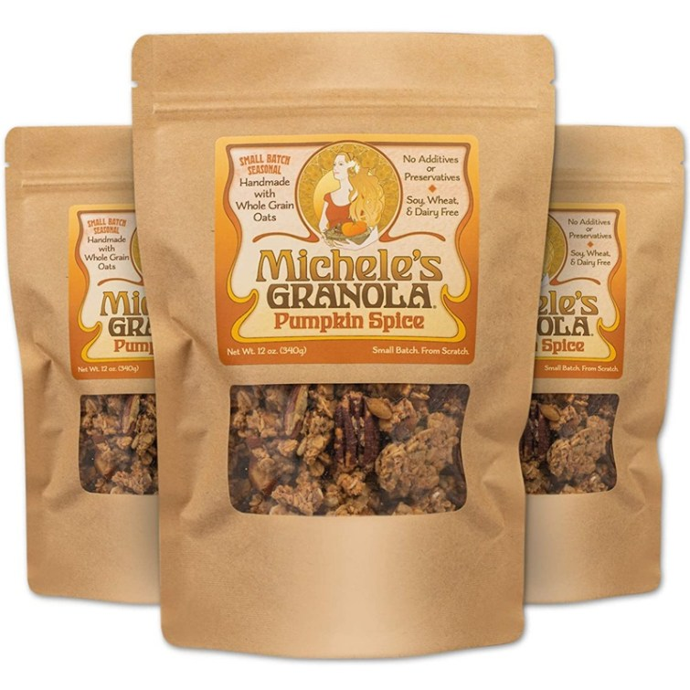50 Dairy-Free Pumpkin Spice Sweets, Snacks, and More! Pictured: Michele's Granola