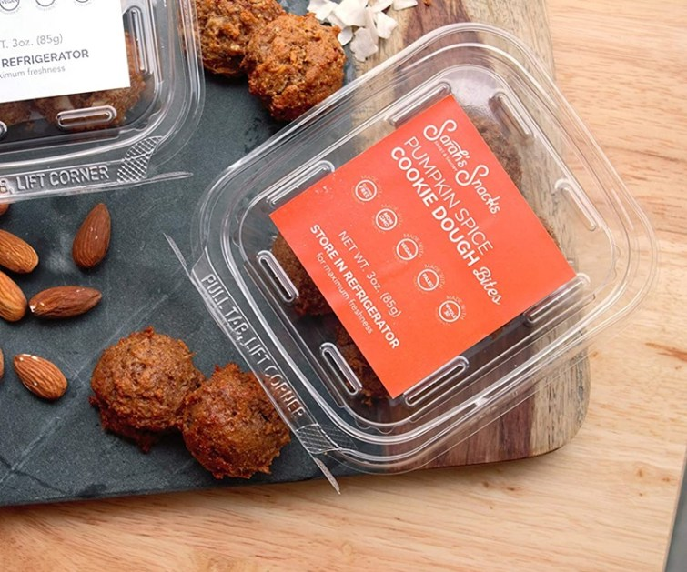 50 Dairy-Free Pumpkin Spice Sweets, Snacks, and More! Pictured: Sarah's Snacks Cookie Dough Bites