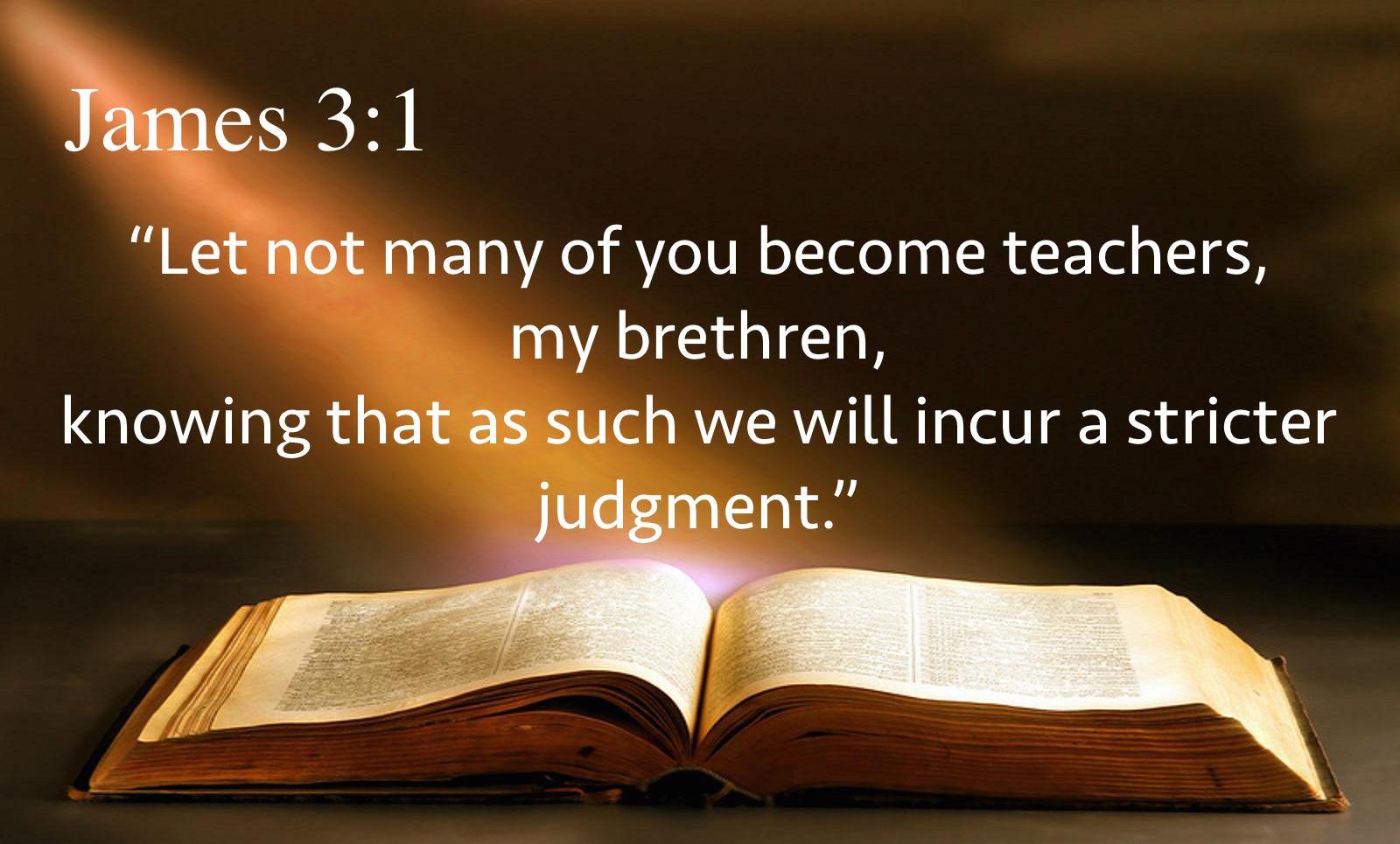 Image result for James 3:1