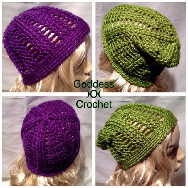 Free Crochet Pattern - Saturday Night Slouch Beanie