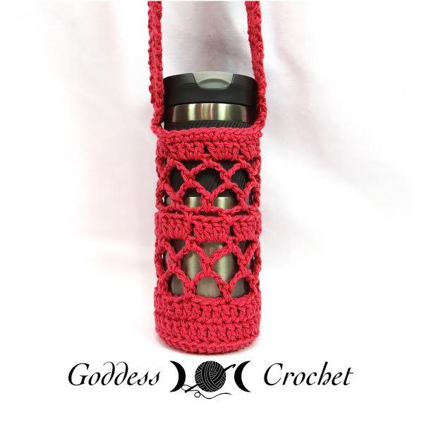 Free crochet pattern - What a Mesh Water Bottle Holder