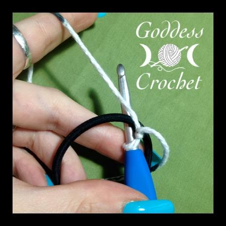 Crochet headband pattern, goddess crochet