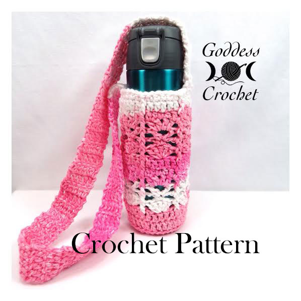 Crochet Pattern - Shelly Water Bottle Holder