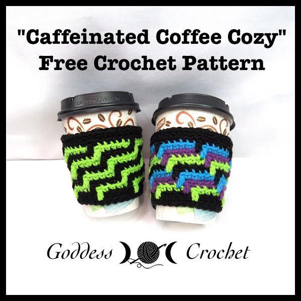 Free crochet pattern, Coffee Cup Cozy